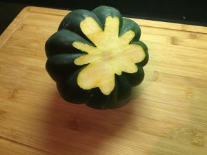 How to Cut Acorn Squash Prep 2