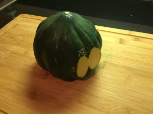 How to Cut Acorn Squash Prep 4