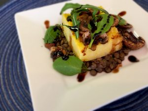 Vegan Polenta with Mushrooms