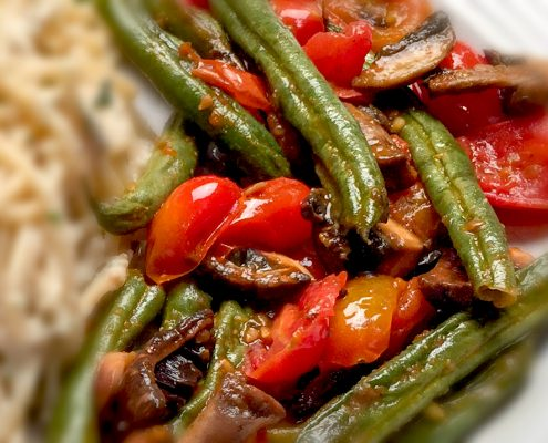 Italian Tomato Mushroom Sauté