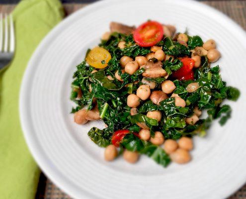 Chickpea Kale Salad Sauté