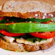 Tofu Breakfast Sandwich Close
