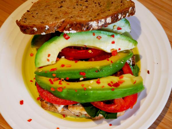 Tofu Breakfast Sandwich Top