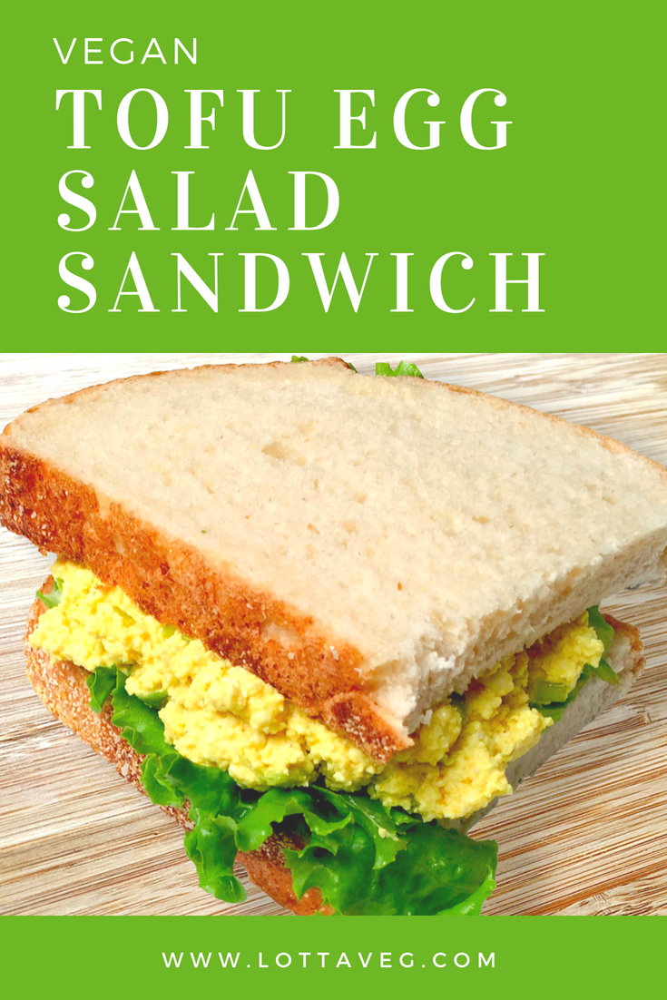 Tofu Egg Salad Sandwich Pin