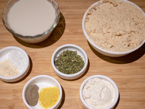 Vegan Alfredo Pasta Prep 1