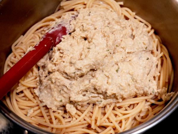 Vegan Alfredo Pasta Prep 6