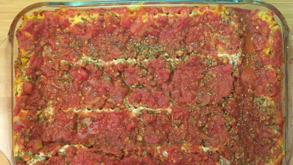Vegan Gluten Free Lasagna Assembly 6