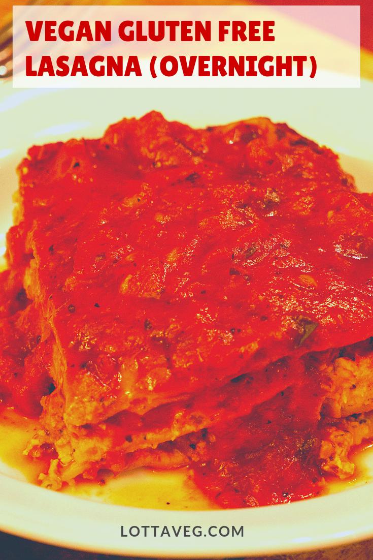 Vegan Gluten Free Lasagna Pin