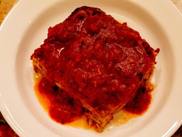 Vegan Gluten Free Lasagna Top
