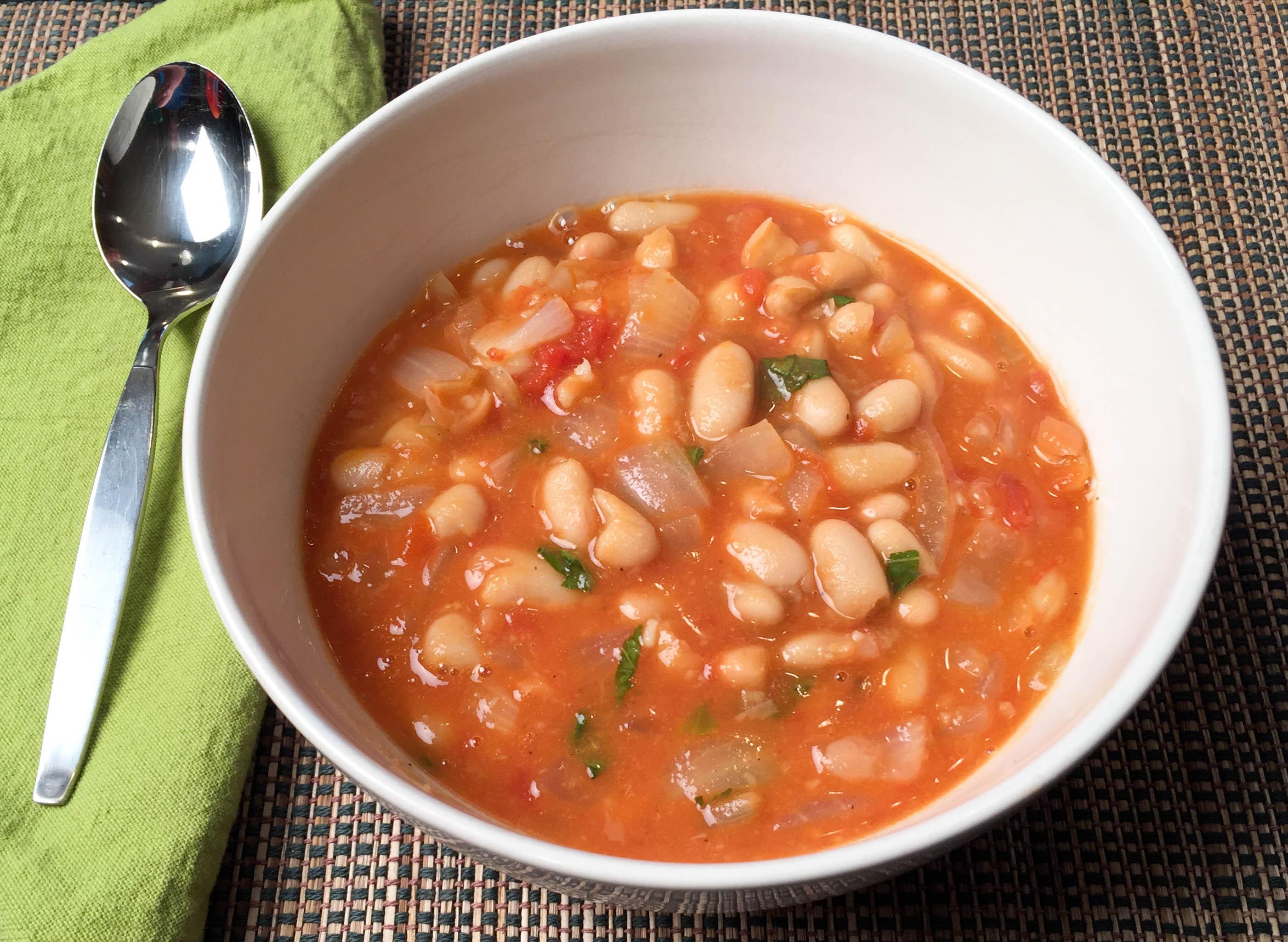 White Bean Soup w/ Garlic & Basil: High
