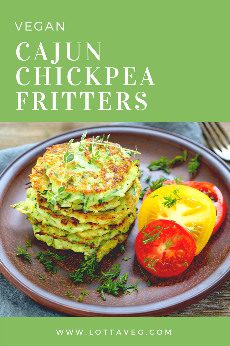 Cajun Chickpea Fritters Pin