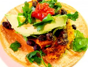 Vegan Tacos Acorn Squash and Black Beans