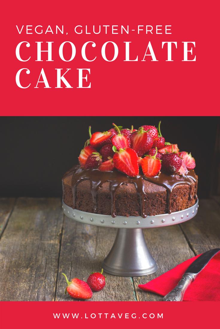 Vegan Gluten Free Chocolate Cake Pin