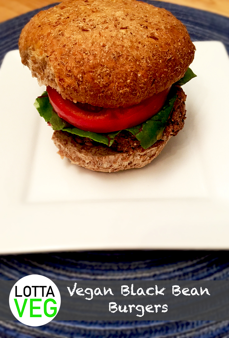 Vegan Black Bean Burgers Pin