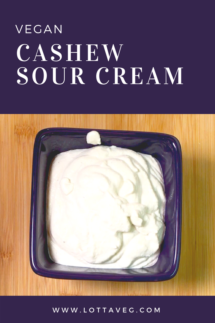 Vegan Cashew Sour Cream Pin