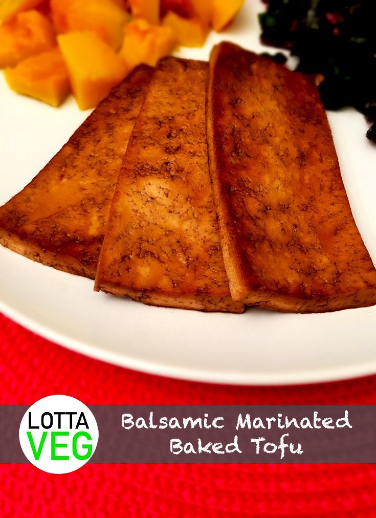 Balsamic Marinated Baked Tofu Pin