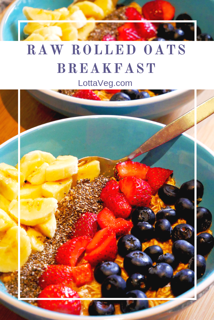 Raw Rolled Oats Breakfast Port Pin