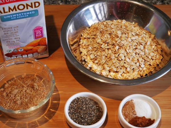 Raw Rolled Oats Breakfast Prep 1