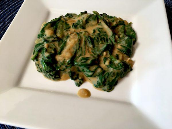 Vegan Sardou Creamed Spinach