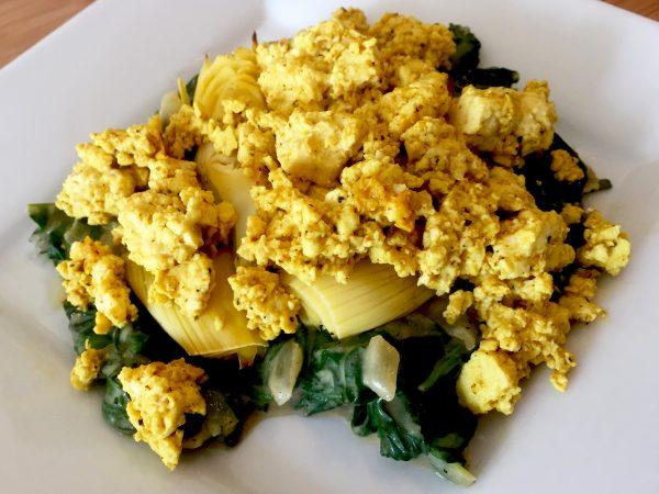 Vegan Sardou Scrambled Tofu