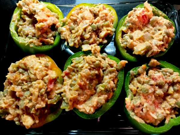 Vegan Stuffed Peppers Prep 1