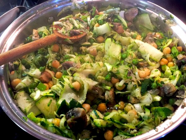 Lemony Spring Peas and Zucchini Prep 1