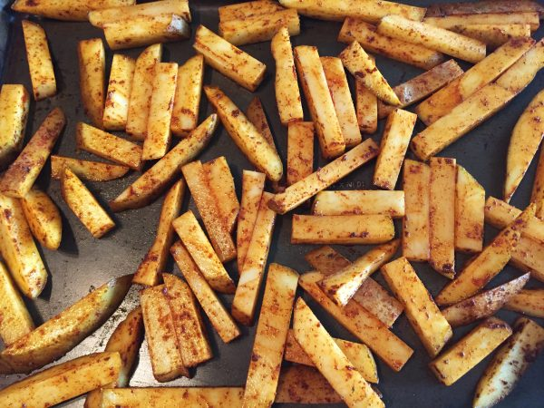 Vegan French Fries Prep 1