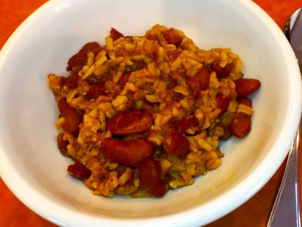 Vegan Cajun Red Beans and Rice