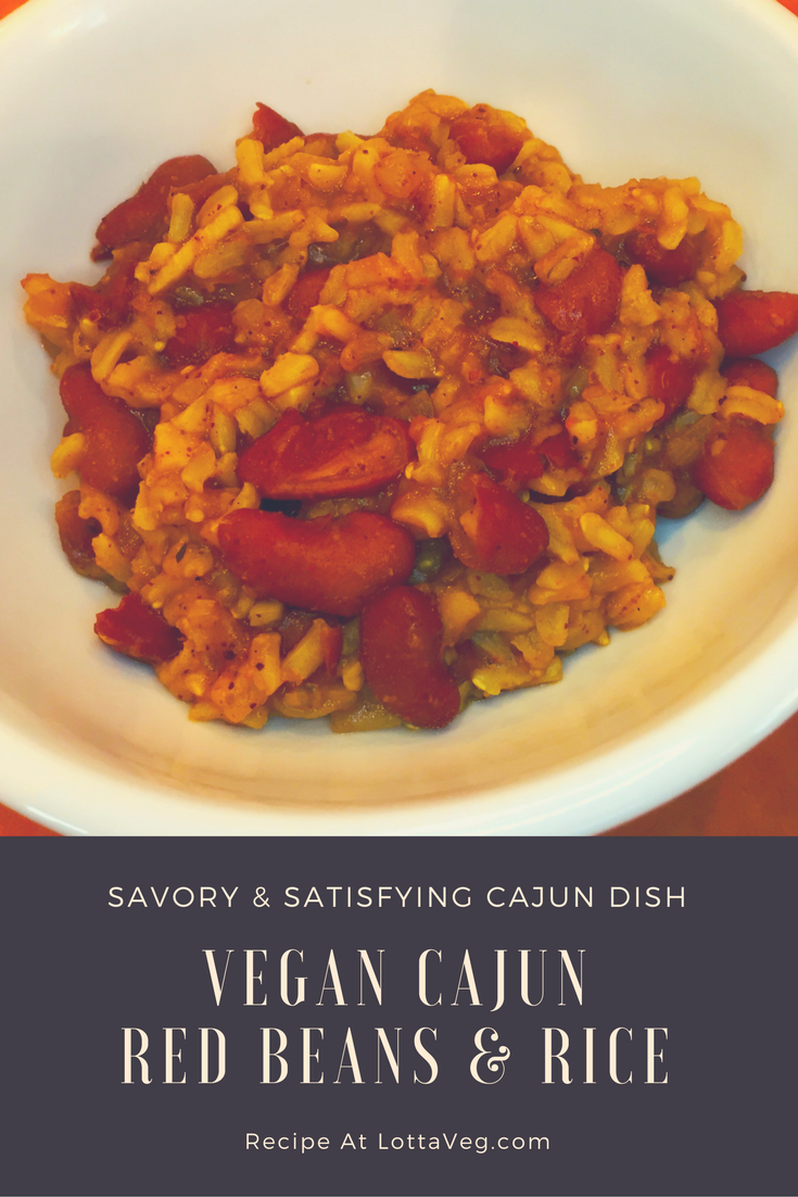 Vegan Cajun Red Beans and Rice Pin
