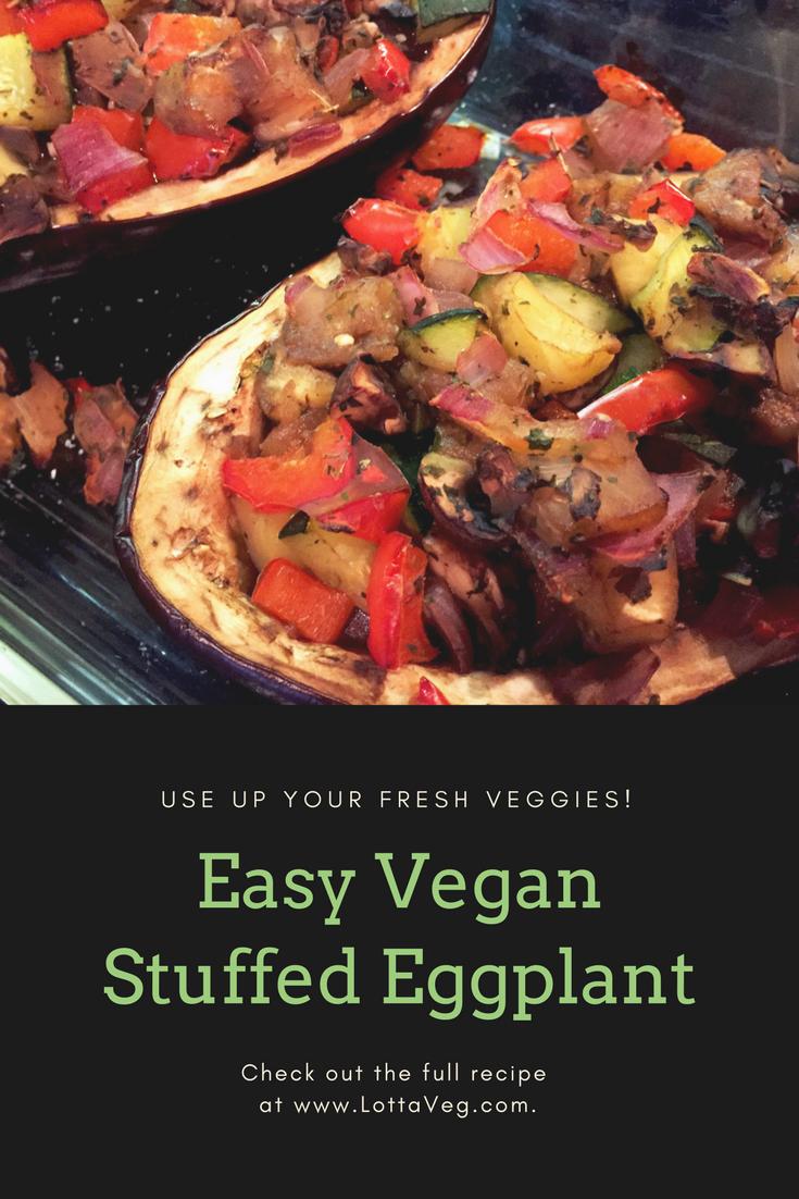 Vegan Stuffed Eggplant Pin