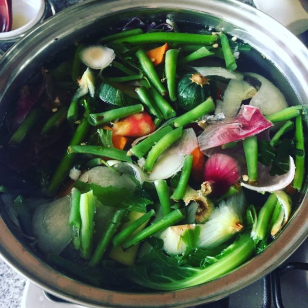 Easy Vegetable Broth from Scraps
