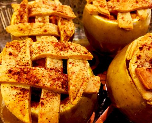 Vegan Apple Pie Stuffed Apples Baked