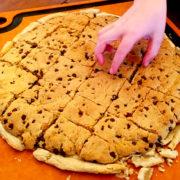Vegan Chocolate Chip Cookie Pizza