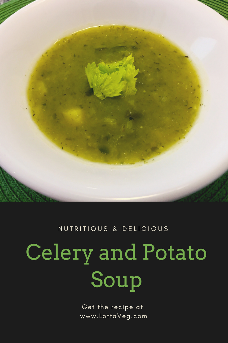 Celery and Potato Soup Recipe Pin