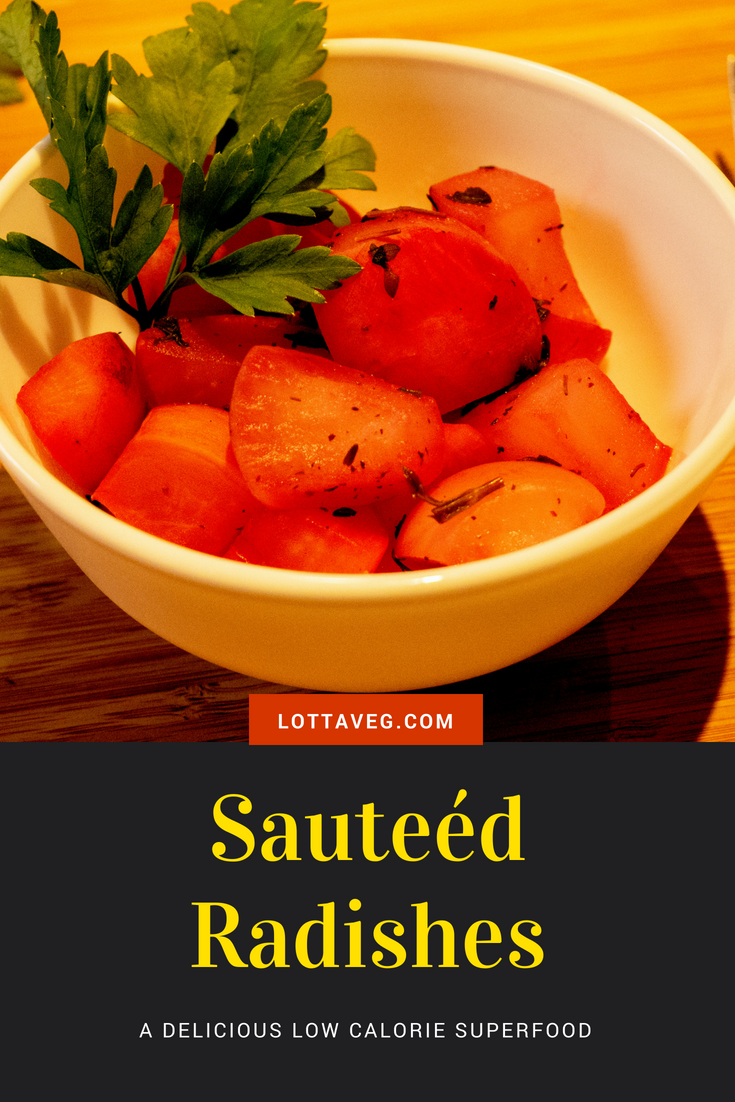 Sauteed Radishes Recipe Pin