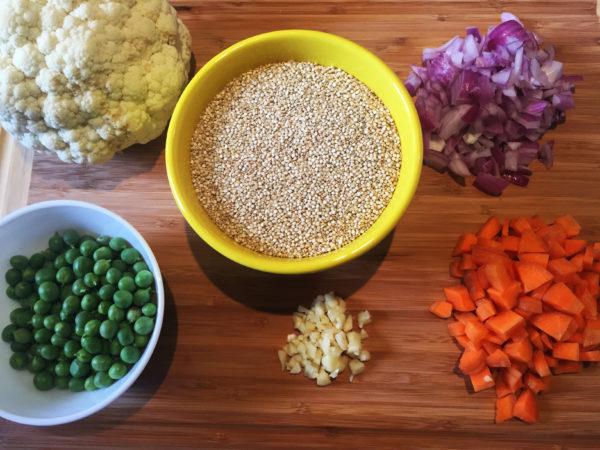 Cauliflower Quinoa Prep 1