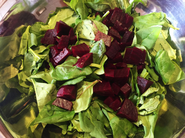 Spinach Salad Prep 2