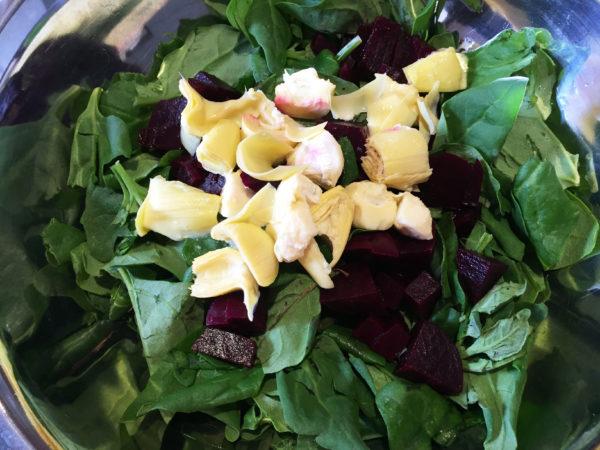 Spinach Salad Prep 3