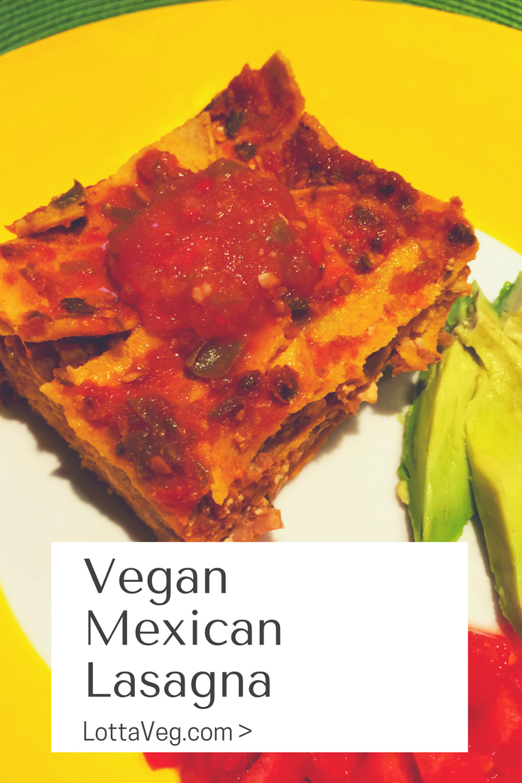 Vegan Mexican Lasagna Pin