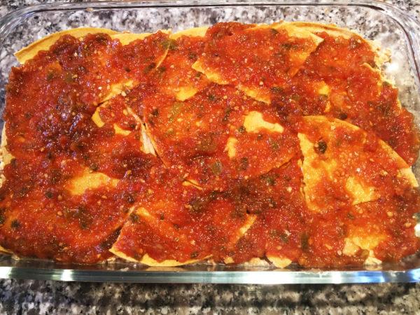 Vegan Mexican Lasagna Prep 12