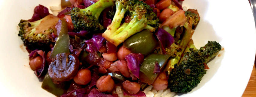 Broccoli Chickpea Chipotle Buddha Bowl