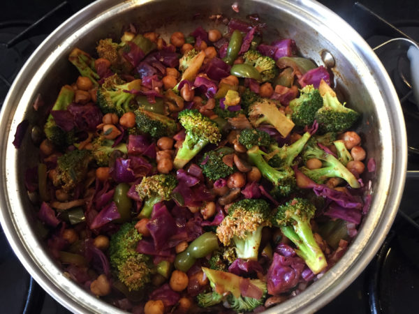 Broccoli Chickpea Chipotle Buddha Bowl Prep 10