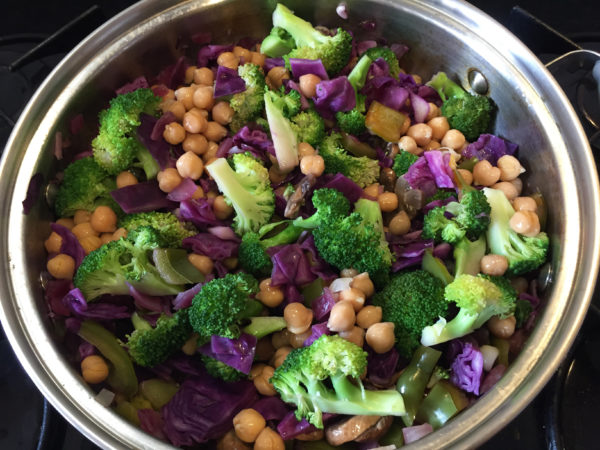 Broccoli Chickpea Chipotle Buddha Bowl Prep 9