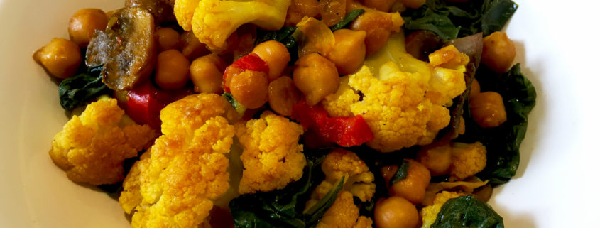 Cauliflower Chickpea Buddha Bowl