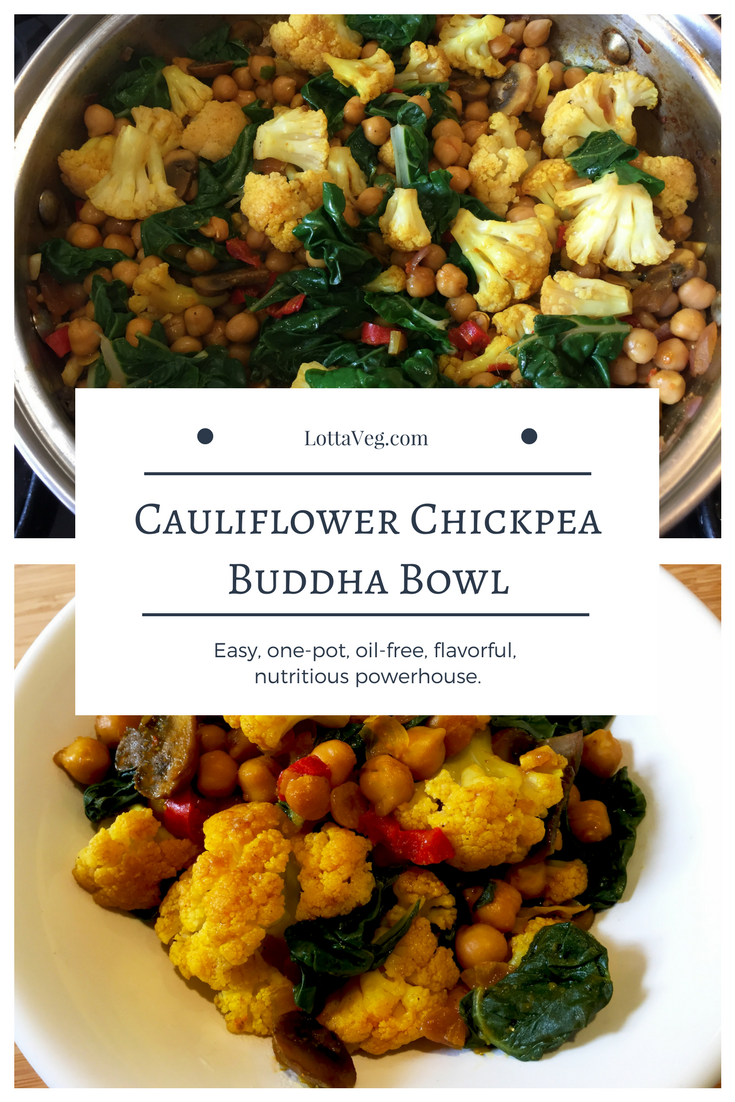 Cauliflower Chickpea Buddha Bowl Pin