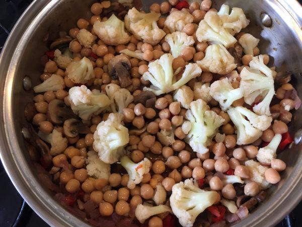 Cauliflower Chickpea Buddha Bowl Prep 6