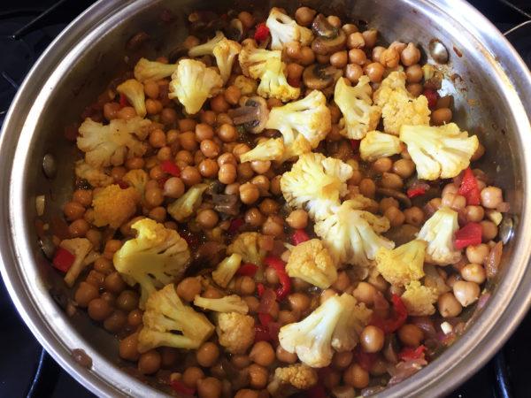 Cauliflower Chickpea Buddha Bowl Prep 7