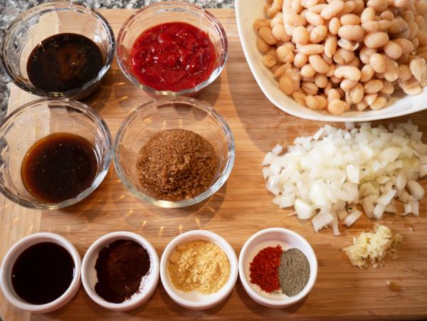 Vegan Baked Beans Prep 1