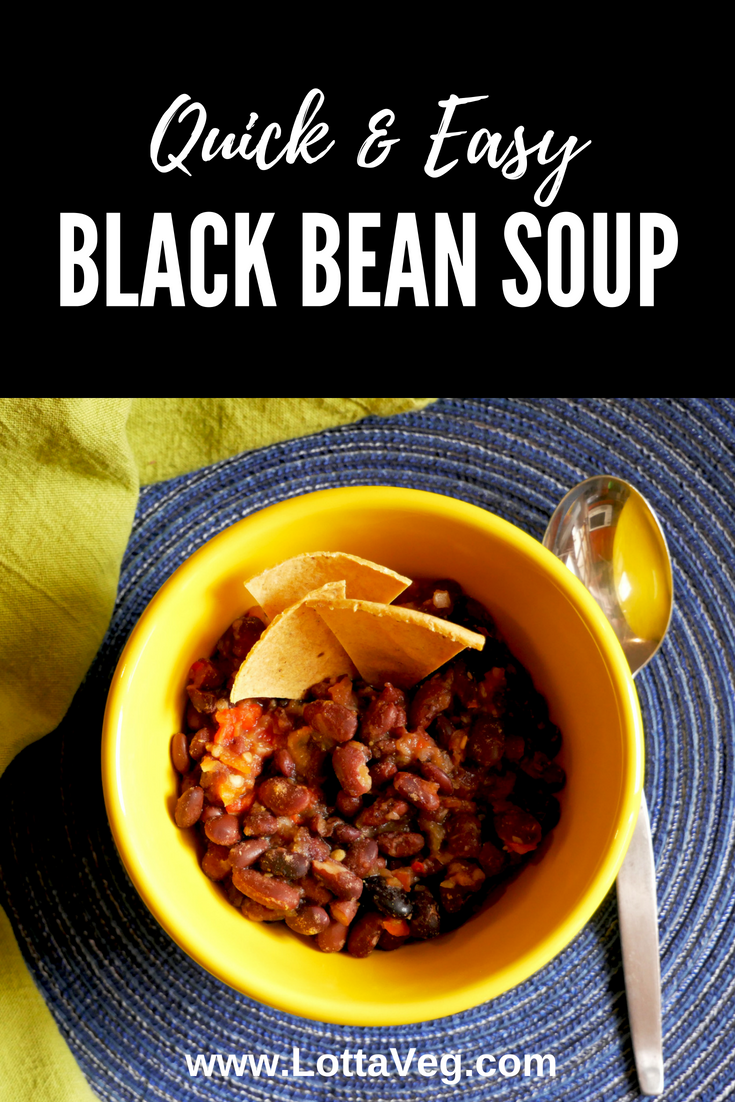 Easy Black Bean Soup Pin