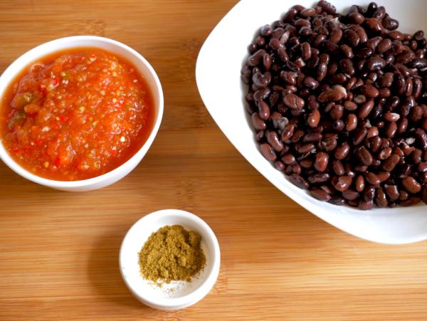 Easy Black Bean Soup Prep 1